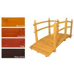 Most drewniany ogrodowy z wykończeniem powierzchni - 248 cm