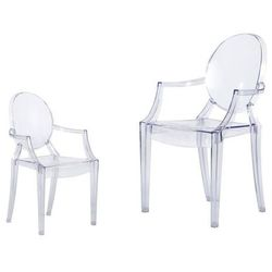 D2.design Krzesło dziecięce mini royal junior inspirowane louis ghost - transparentny, kategoria: krzesła i stoliki