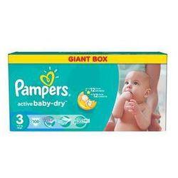Pieluszki Pampers Active Baby-dry rozmiar 3 Midi, 108 szt. - produkt z kategorii- Pieluchy jednorazowe