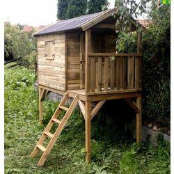 Drewniany domek dziecięcy z kategorii poza domem