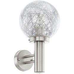 Kinkiet LAMPA elewacyjna NISIA 1 93366 Eglo zewnętrzna OPRAWA ścienna do ogrodu IP44 kula ball outdoor stal przezroczysta, 93366