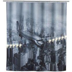 Zasłona prysznicowa old plane tekstylna z oświetleniem led, 180x200 cm, marki Wenko