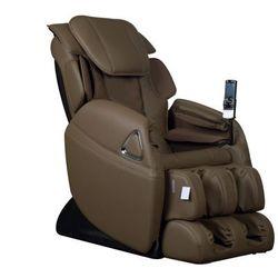 Fotel masujący leto z obiciem skóropodobnym - system wprowadzający w stan nieważkości (antygrawitacyjny) - czekoladowy marki Vente-unique