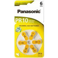 Baterie do aparatów słuchowych PANASONIC PR10 6szt., PR10