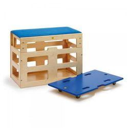 Skrzynia do ćwiczeń sportowych z nadstawką - zabawki dla dzieci marki Erzi
