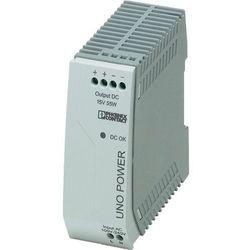 Zasilacz na szynę din  uno-ps/1ac/15dc/ 55w 15 v/dc 3.7 a 55 w 1 x wyprodukowany przez Phoenix contact
