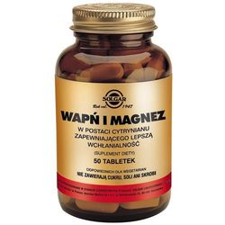 SOLGAR Wapń i Magnez w post.cytrynianu - - 50 tabl.