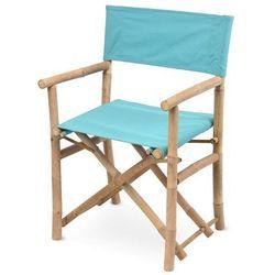 Krzesło składane bambusowe miętowe marki Dekoracjadomu.pl