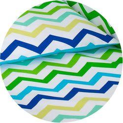 dwustronna pościel 2-el zygzak niebiesko-zielony / niebieski do łóżeczka 60x120cm marki Mamo-tato