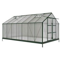Szklarnia ogrodowa oxalis z poliwęglanu o powierzchni 15 m², z podstawą marki Vente-unique.pl