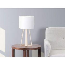 Nowoczesna lampka nocna biała - lampa stojąca - stołowa - KORANA