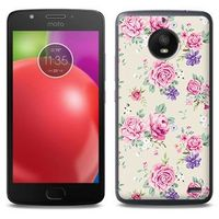 Fantastic Case - Motorola Moto E4 - etui na telefon Fantastic Case - pastelowe różyczki, ETMT550FNTCFC003000