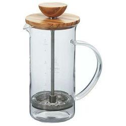 Zaparzacz tłokowy do herbaty Hario Tea Press Wood 2 filiżanki (THW-2-OV)