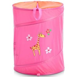 Torba na pranie, zabawki, motyw dziecięcy - kolor różowy, marki Zeller