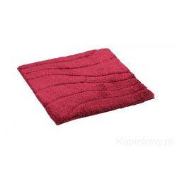 La ola dywanik łazienkowy 55x50cm poliester, czerwony 729816 od producenta Ridder