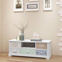 Szafka pod telewizor w stylu francuskim, drewno