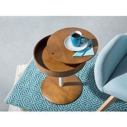 Stolik kawowy ciemnobrązowy- ława kawowa - stół - oregon marki Beliani