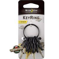 Brelok Nite Ize S-Biner KeyRing Steel Black KRGS-01-R3