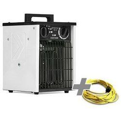 Nagrzewnica elektryczna tds 10 + przedłużacz profi 20 m / 230 v / 2,5 mm² marki Trotec