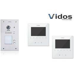 Zestaw cyfrowy wideodomofon dwurodzinny s1202a_m1022w marki Vidos