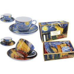 Kpl. 2 filiżanek ze spodkami - Van Gogh. Taras kawiarni nocą i Gwiaździsta Noc (CARMANI)