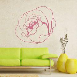 Szablon na ścianę kwiat róży 2079