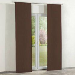 zasłony panelowe 2 szt., czekoladowy szenil, 60 × 260 cm, chenille marki Dekoria