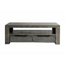 Sofa.pl Invicta stolik rtv iron craft 130 cm - szary mango, drewno naturalne, metal