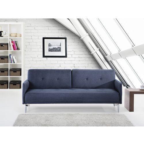 Sofa do spania - kanapa rozkladana - ciemnoniebieska - Lucan, marki Beliani do zakupu w Beliani