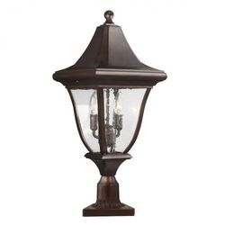 Ogrodowa lampa ścienna oakmont fe/oakmont2/m elstead elewacyjna oprawa zewnętrzna kinkiet outdoor ip44 brązowa patyna marki Feiss
