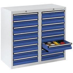 Szafka z szufladami, wys. x szer. x gł. 900x1000x500 mm, 16 szuflad o wys. 100 m marki Stumpf-metall