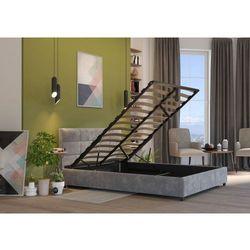 Łóżko 160x200 tapicerowane arezzo + pojemnik welur szare marki Big meble