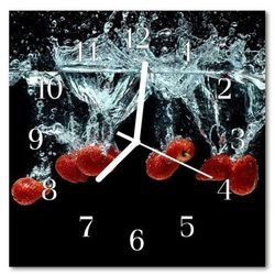 Zegar ścienny kwadrat truskawki marki Tulup.pl