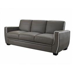 Rozkładana 3-osobowa kanapa z materiału skóropodobnego NATY - Kolor: taupe