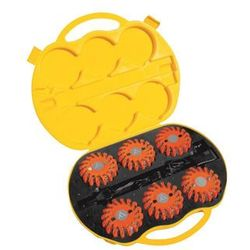 Dyski sygnalizacyjne Mactronic PSD0012 amber, ładowalne,zestaw (6x dysk ładowarka 230V i 12V, walizka żółta)