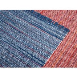 Dywan - niebieski - 140x200 cm - bawełna - handmade - BESNI (7081453865517)