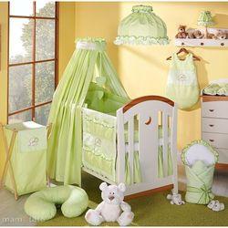 MAMO-TATO pościel 5-el Miś z serduszkiem w zieleni do łóżeczka 70x140cm - Tkanina