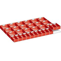 Lista Wkładana skrzynka z tworzywa, do wym. szafy 1023x725 mm, do szuflad o wys. 100 m