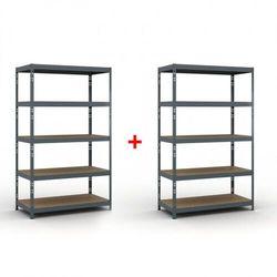 Regał półkowy 2000 x 1200 x 600 mm, nośność 280 kg 1+1 gratis marki B2b partner