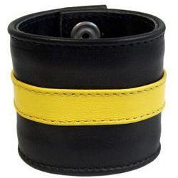 Mister b (nl) Skórzana opaska na nadgarstek yellow, rozmiar - xl
