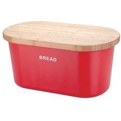 Zeller Czerwony chlebak bread z deską do krojenia, 2w1,