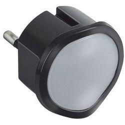Legrand 50677 - led lampa nocna ściemnialna do gniazday led/0,06w/230v czarny (3414970010636)