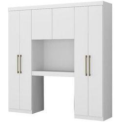 Zabudowa antero – 6 par drzwi – zawiera szafy i miejsce do przechowywania – dł. 200 cm – kolor biały marki Vente-unique.pl