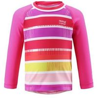 Koszulka Reima kąpielowa Borneo UV długi rękaw różowa (upreme pink) w paski, kup u jednego z partnerów