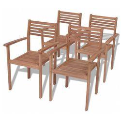 Zestaw drewnianych krzeseł ogrodowych - Malion 3X, vidaxl_43037