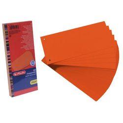 Przekładki 1/3 A4 kartonowe pomarańcz Eco (100szt