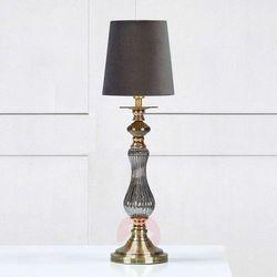 Markslojd Klasyczna lampa stołowa heritage 106989 biurkowa lampka abażurowa szary (7330024571105)