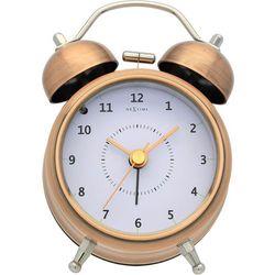 Budzik wake up miedziany 9 cm marki Nextime