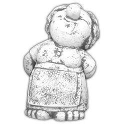 Figura ogrodowa betonowa ludzik starsza kobieta 34cm