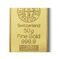 50g x 10szt. Sztabka złota mennica Argor-Heraeus Szwajcaria - Dostawa Natychmiastowa
